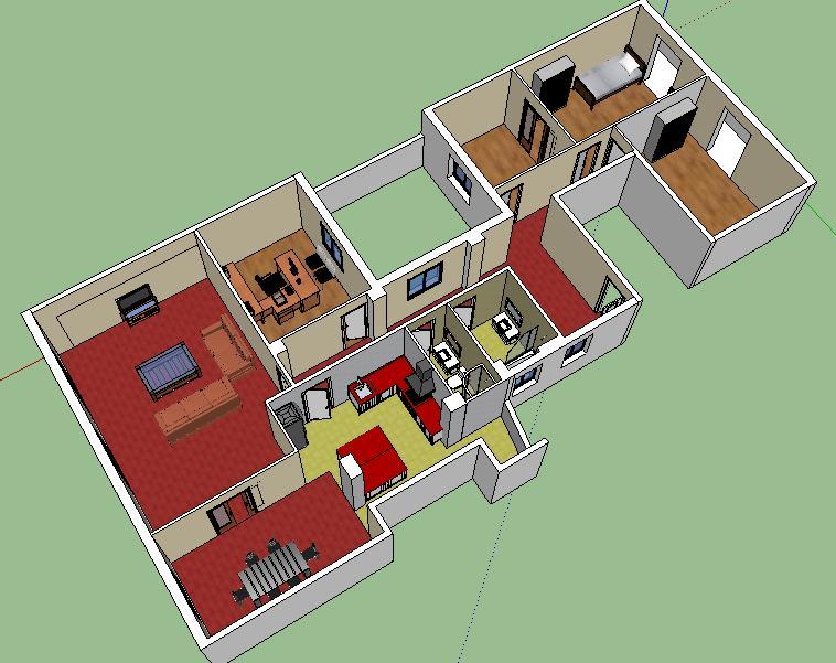 Planos de viviendas gabinete artetop topograf a - Planos de casas de madera de una planta ...